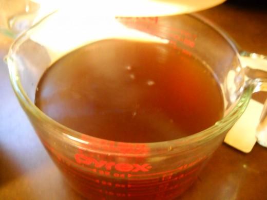 Just brewed tea
