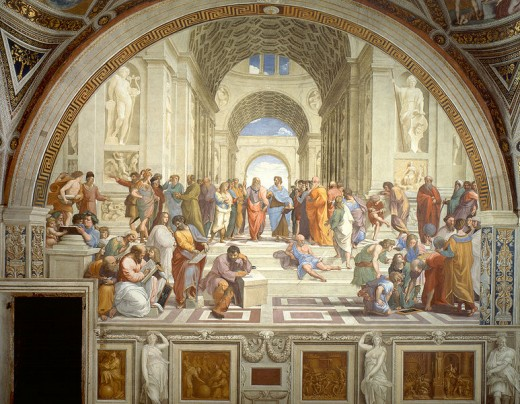 The School of Athens - fresco by Raffaello Sanzio