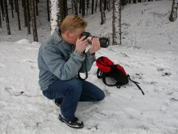 Photographer taking a picture.