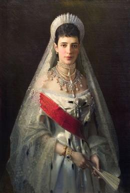 Maria Fyodorovna by artist Ivan Nikolaevich Kramskoi (1837-1887)