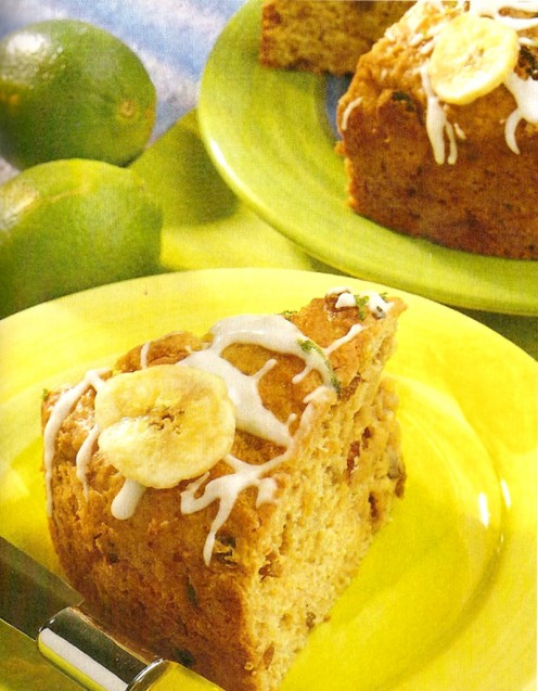 Delicious banana and lime cake