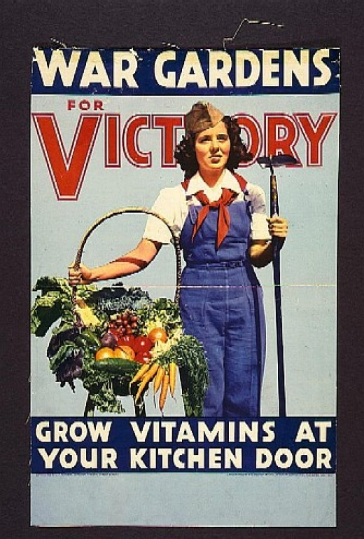 one of many posters during wwII that encouraged people to grow their own food
