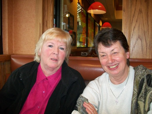 Nancy-(USA) and Deirdre-(England) in Bushkill, Pa. Pen Pals over 57 years