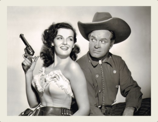 Jane Russell and Bob Hope in 'The Paleface'