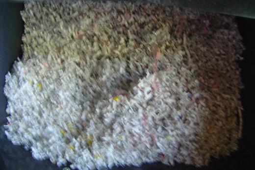 Shreds from my micro-cut shredder