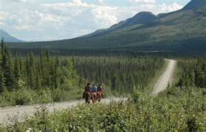 """What better way to see the Last Frontier than from the back of a horse, just like in the old days! Horseback riding is allowed on several trails managed by BLM-Alaska."""