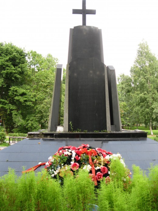 "War Monument in Veliky Novgorod, Russia that reads:  ""Afghanistan in My Soul 1979-1989"""