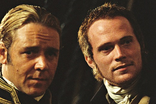 Russell Crowe and co-star Paul Bettany, who plays the ship's doctor and amateur naturalist