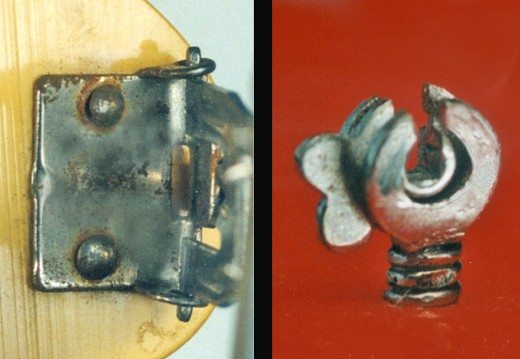 Close up example of original Bakelite hardware