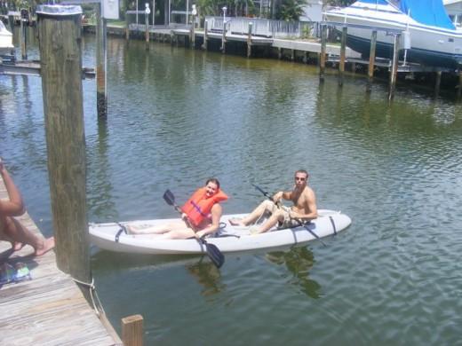 The kayak at the rental.