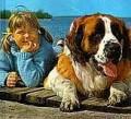 Tjorven and her dog Btsman.