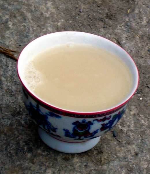 A cup of warm butter tea