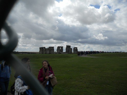 Stonehenge, viewed from the perimeter fence