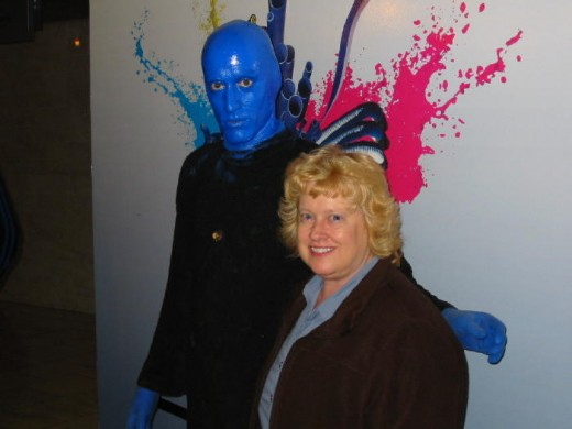 "My visit with the ""Blue Man!"""