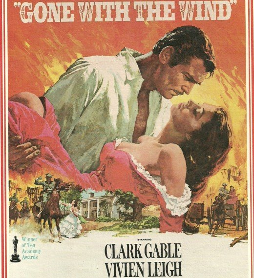 "The best movie kiss of all time took place in ""Gone With the Wind"", according to movie fans."