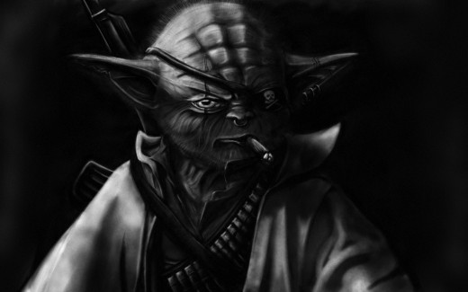 While not quite this cool, Yoda is still pretty B.A.