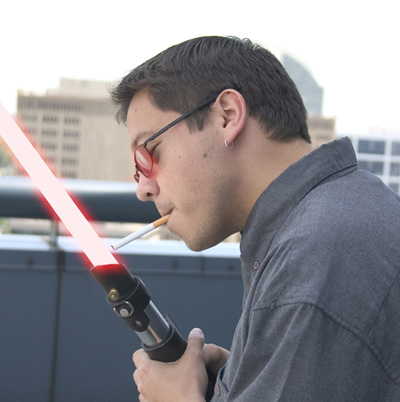 Lightsabers: Used to deflect blaster bolts, Kill Sith Lords, and light cigarettes