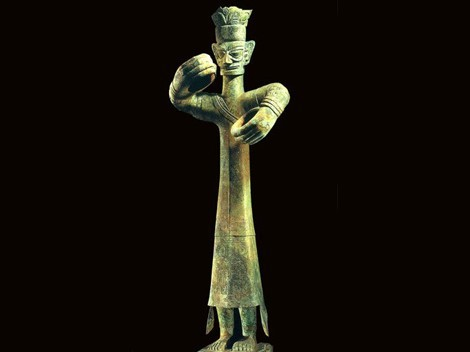 Sanxingdui Bronze Figure
