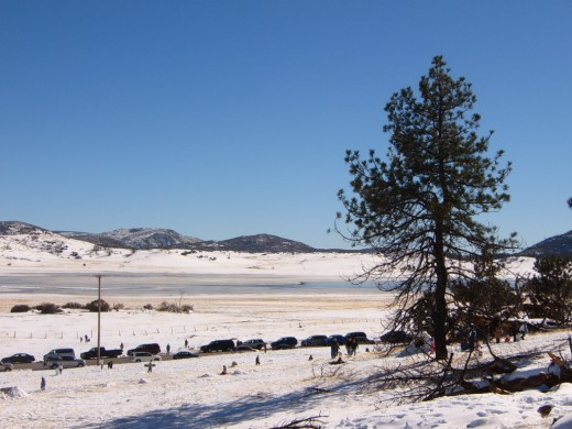 Winter Snow,  Lake Cuyamaca