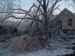 Ice Storm 2009 Arkansas Missouri Oklahoma - Ice Photos and Poem about Powerless