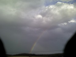 GOD will give us a rainbow after a storm! Leave your burdens with HIM!
