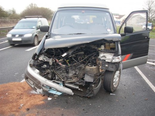 The third party's car after the accident