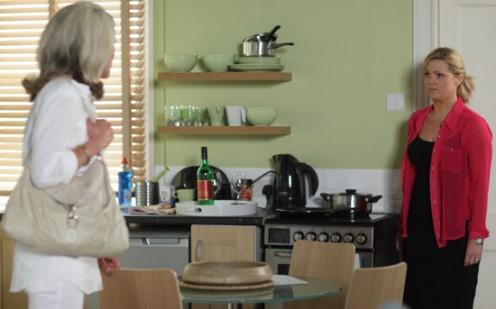 Vanessa confronts Tanya at the secret bedsit