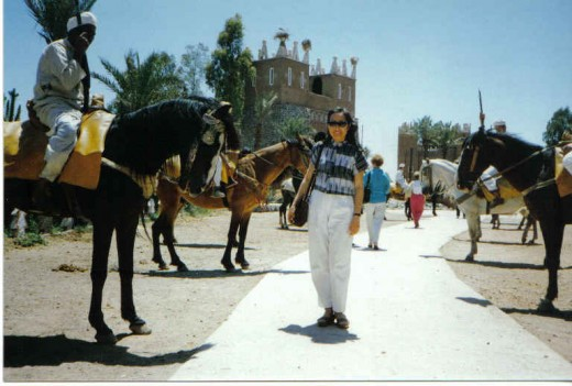 Entranace of Maroccan Fantasia  welcome by the horse riders