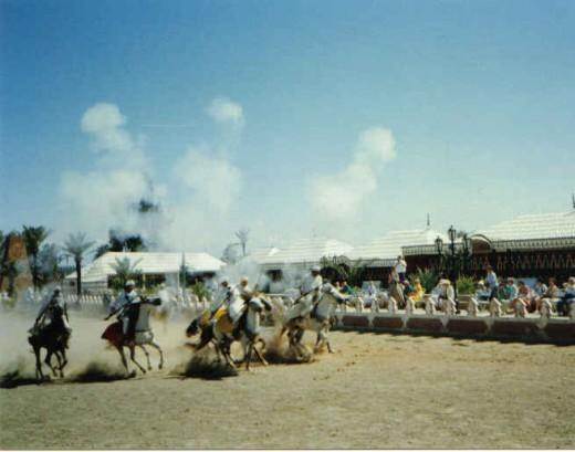 Fantasia Equestrian game - Maroccan Fantasia Event