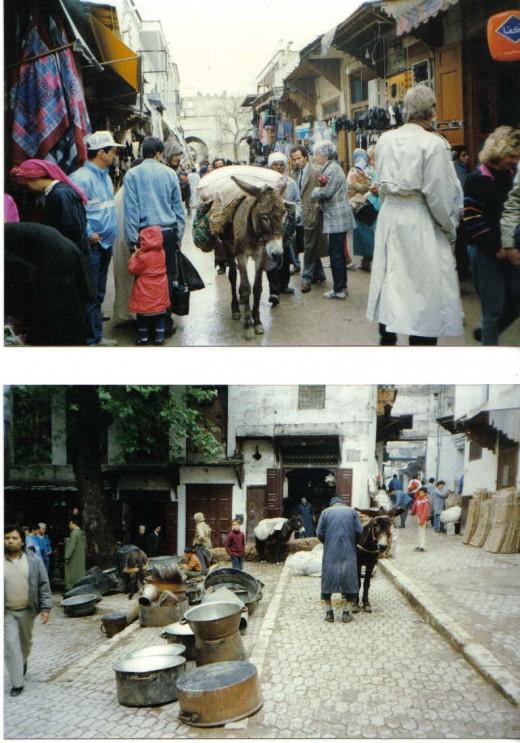 Main  street of Fez Bazaars