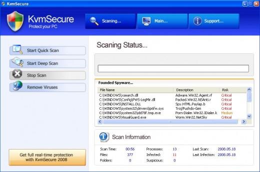 KMVsecure Desktop Scan