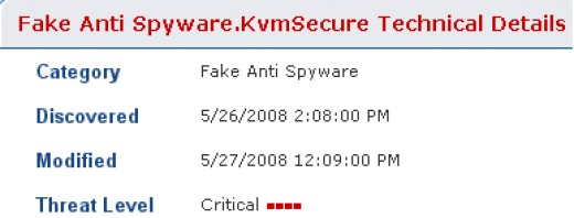 KVM Secure risk level: critical (according to Spyware Detector)