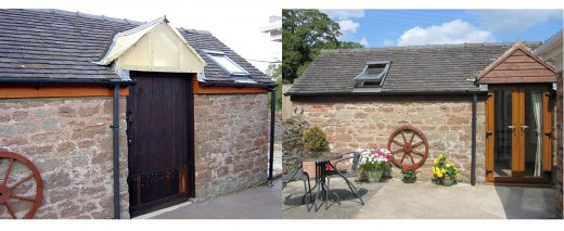 "Front View Before and After: Once a Pigsty, Now ""Our Retreat"""
