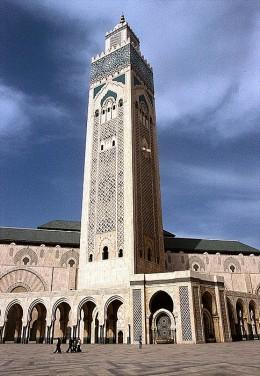 Casablanca - Marokko Mosque Hassan II: Minarett