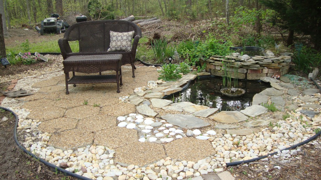Backyard water feature how to build a pond for Pond features
