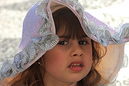 Images of people from the countries of the world Little Portuguese girl in Madeira