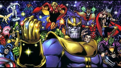 Thanos faces the Marvel Universe