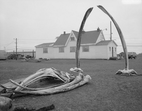 Point Barrow Refuge Station in Barrow, North Slope Borough in Alaska. US National Historic Landmark and northernmost city in Alaska.