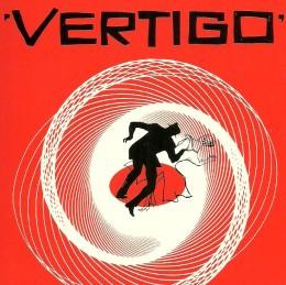 "James Stewart chases Kim Novak to distraction in ""Vertigo""."