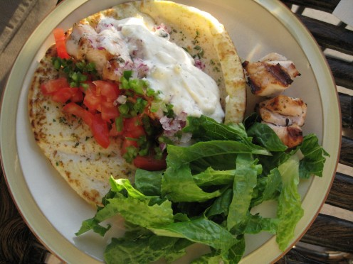 Delicious Chicken Greek Wraps