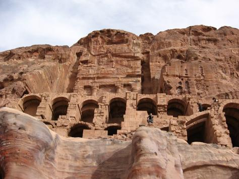 Ancient dwellings in Petra