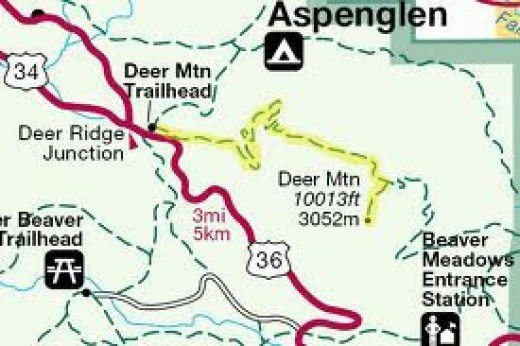Deer Mountain Trail Map, Rocky Mountain National Park