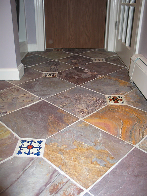 Slate and Spanish tiles can make a great focal point!