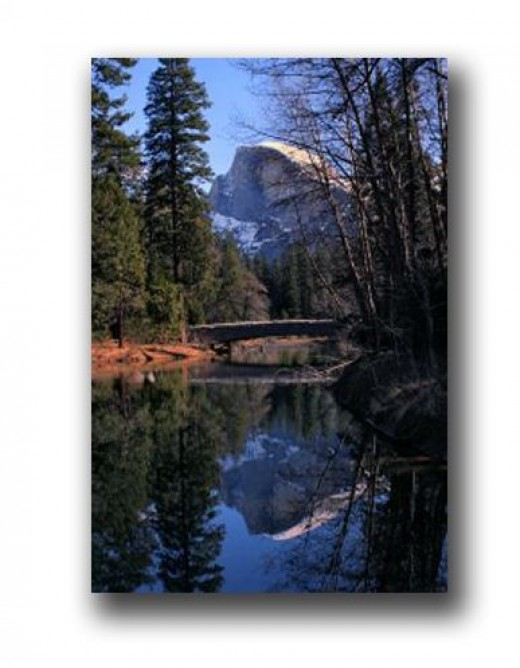Half Dome in Yosemite National Park. It's a BIG rock.