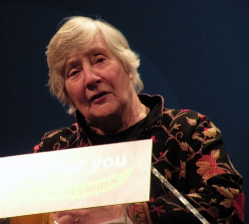 Shirley Williams at Birmingham 2010. 'I, the copyright holder of this work, hereby publish it under the Creative Commons Attribution-Share Alike 3.0 Unported license.'See: http://en.wikipedia.org/wiki/File:Shirley_Williams_at_Birmingham_2010.jpg