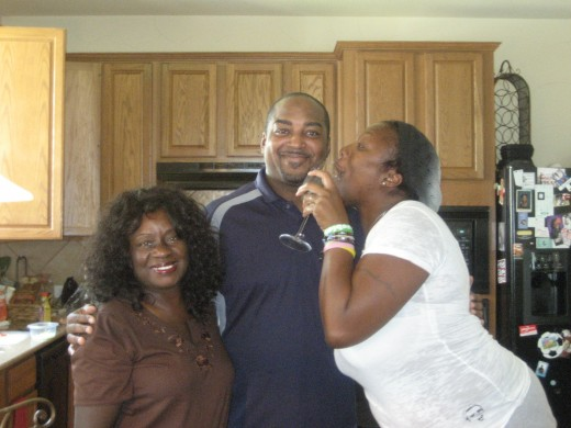 Tricia, her husband, and me