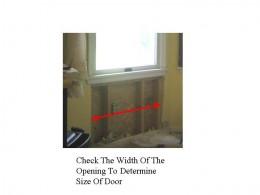 Fig. 2.  Checking Frame Width.