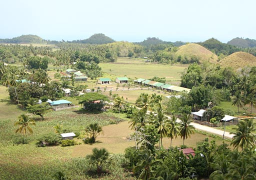 A view from Sagbayan Peak, a newly opened restaurant and attraction park on top of one of the Chocolate Hills in Sagbayan, not far from Tubigon.