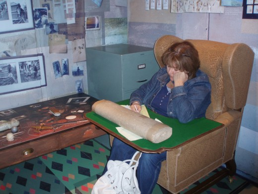 Sit in the replica of Roald Dahl's writing chair and be inspired!
