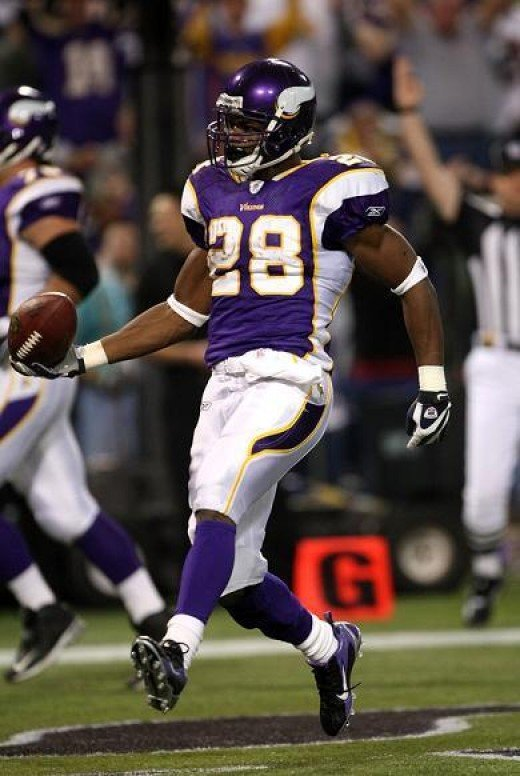 RB Adrian Peterson will be the unquestioned leader